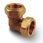 Brass Compression Plumbing Fittings - Elbow 8mm - 28mm